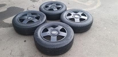 15 Inch Audi rims with tyres
