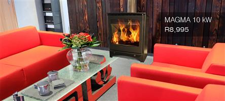 LAVA MAGMA  CLOSED COMBUSTION FIREPLACE 10KW