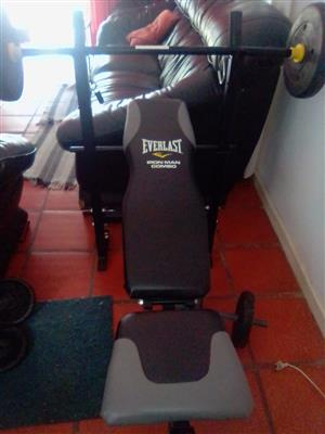 Everlast Iron Man Combo Bench Gym for sale. R900