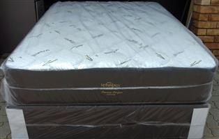 Extra Length Posture Perfect Bamboo Double mattress and base set
