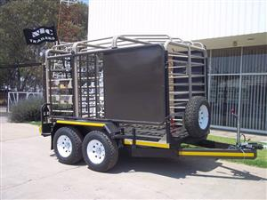 3.0M Sheep / Cattle - Double Deck TRAILER WITH RAIL