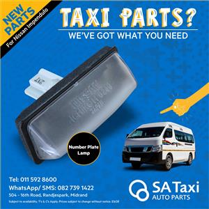New Number Plate Lamp suitable for Nissan Impendulo - SA Taxi Auto Parts quality taxi spares
