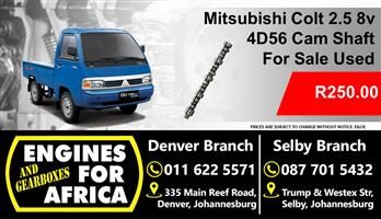 Mitsubishi Colt 2.5 4D56 Cam Shaft For Sale