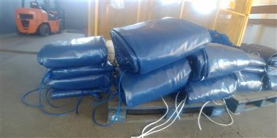 Heavy duty pvc chicken house and piggery curtains including pockets and eyelets