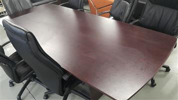 Mahogany boardroom table