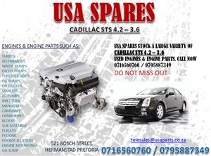 CADILLAC STS 4.2 – 3.6 – 4.6 ENGINES AND ENGINE PARTS
