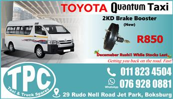 Toyota Quantum 2KD  Brake Booster - New - Quality Replacement Taxi Spare Parts.