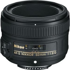 Nikon AF-S 50mm f/1.8G Lens - for perfect human-eye perspective