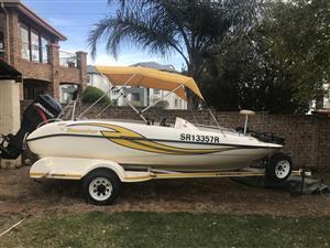 Sunseeker 170 with 125 merc boat on trailer