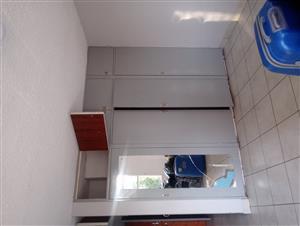 En suite bedroom in a shared flat.
