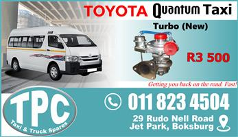 Toyota Quantum Turbo - New - New & Used Quality Replacement Taxi Spare Parts.