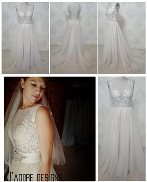 STUNNING A-LINE WEDDING DRESS FOR HIRE