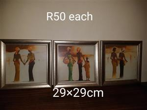 3 African paintings for sale