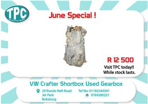 VW Crafter Short box Used Gearbox for Sale at TPC