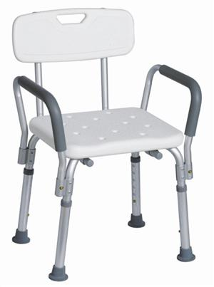 MR WHEELCHAIR SHOWER CHAIR WITH BACK REST & HANDLES