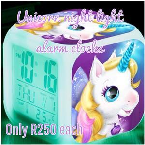 UNICORN digital alarm clock night lights
