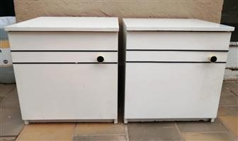 Set of Two White Bedside tables - R500 for both.