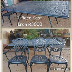 4 Piece cast iron garden set