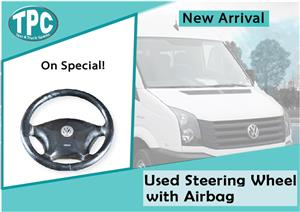 Volkswagen Crafter Used Steering Wheel With Airbag for sale at TPC