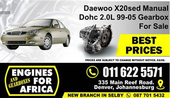Daewoo X20sed 2.0L Dohc 99-05 5speed manual Gearbox FOR SALE