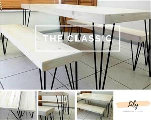 The Classic table and bench set