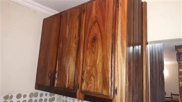 Sleeper wood cupboards