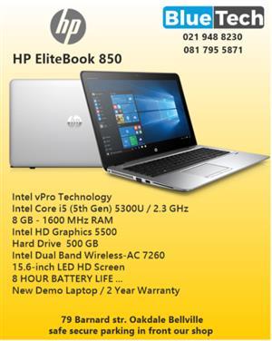 "HP EliteBook 850 Intel Core i5-5300 - 8GB RAM - 15.6"" - 1 TB HHD BLUETECH Computers"