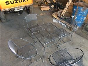 Custom Build Steel 5 Piece Garden Set