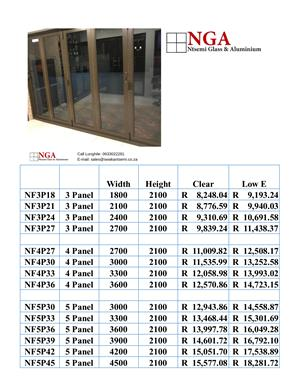 Sourced From Only the Best: Vistafold Stacking Doors
