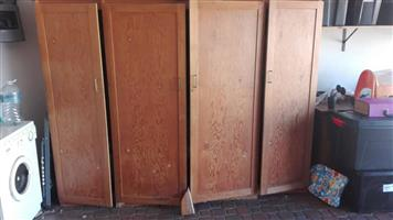 2 Door wooden cupboards for sale