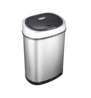 NineStars 12L Automatic Motion Sensor Touchless Stainless Steel Dustbin