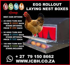 Egg Roll-out Laying Nest Boxes