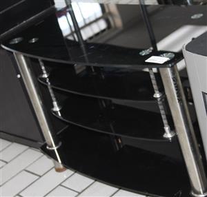 S035642A Black glass tv stand #Rosettenvillepawnshop