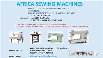 Brand new industrial upholstery sewing machinery ( Africa Sewing Machines)