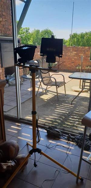 Tripod with outdoor lights