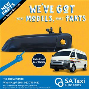 Front Door Outer Handle suitable for Toyota Quantum - SA Taxi Auto Parts quality taxi spares