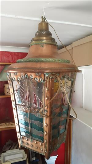 Lamp: 1-of-a-Kind Exciting find Quality Very Old copper and brass ship Lamp.