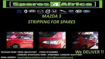 Mazda 3 Stripping For Spares