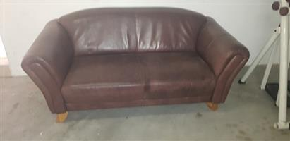 Kudu leather couch for sale.