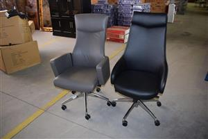 Black and grey office chairs for sale