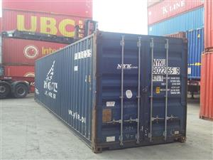40` GP or HC (12m) Used (Cargo worthy for exports)