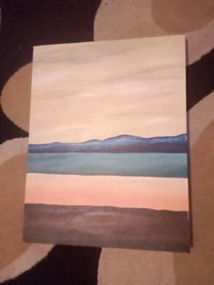 Beach scene canvas for sale