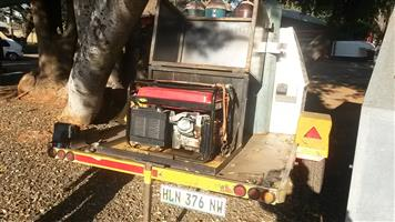 WELDING TRAILER WITH EXTRAS GENERATOR 4X GAS  CUTTING TORCHES AND MORE BOTTLES R 29,999.00