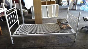 2 x Iron single beds