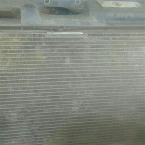 aircon radiator and main radiator