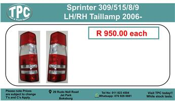 Sprinter 309/515/8/9 LH/RH Taillamp 2006- For sale.