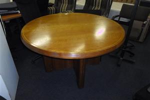 Round Wooden Office Table