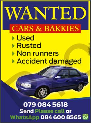 "URGENT!!!!! - Desperately looking to buy 101 x Cars / bakkies / trucks ""COUNTRYWIDE"""