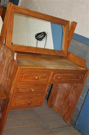 Pine dressing table S029954B #Rosettenvillepawnshop