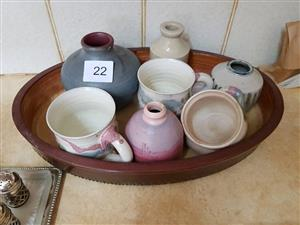 Decor bekers,vases and oval bowl